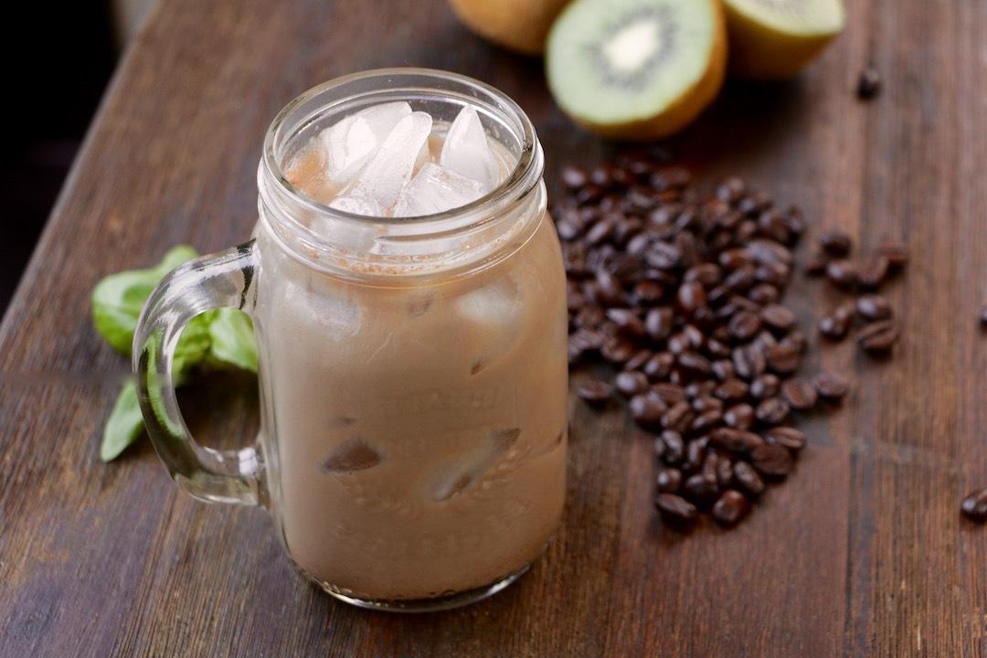 homemade iced vanilla latte