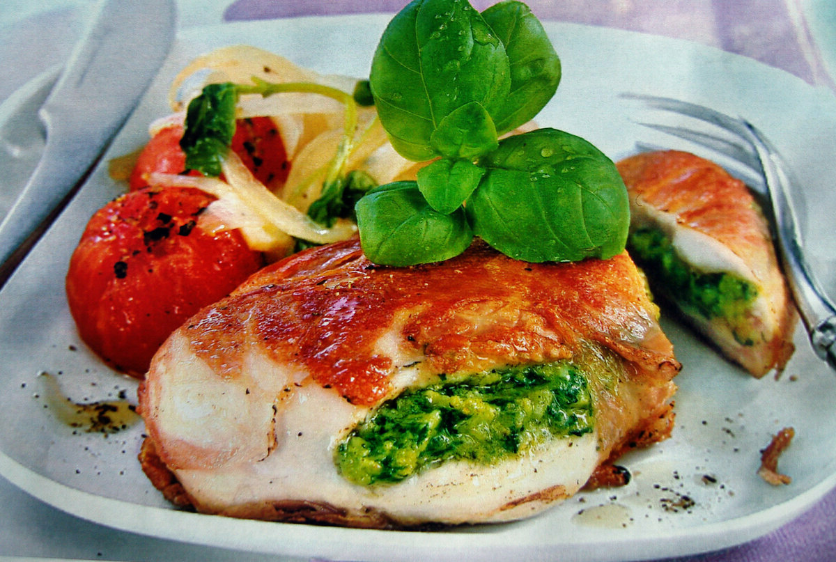 spinach and cheese stuffed pork chops