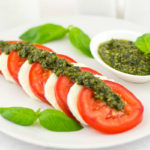 Caprese Salad with Pesto Sauce